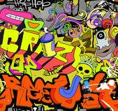 Graffiti wall art background. Hip-hop style seamless texture pat — Stock Vector