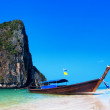 Thailand beach. Beautiful tropical landscape with boat — Stock Photo