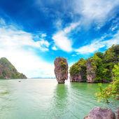 James Bond island Thailand travel destination. Phang Nga bay arc — Stock Photo