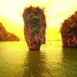 Stock Photo: James Bond island sunset panoramic photography. Famous travel de