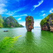 James Bond island Thailand travel destination. Phang Nga bay arc — Stock Photo