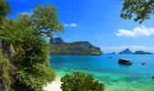 Exotic beautiful landscape of Thailand sea. Angthong marine park — Stock Photo
