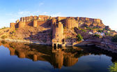 Mehrangarh Fort, Jodhpur, Rajasthan, India. Indian palace — Stock Photo