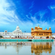Sikh golden palace in India. Indian temple — Stock Photo