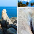 Hin Ta Hin Yai (grandpa and grandma) rock formations on Koh Samu — Stock Photo
