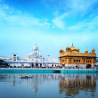 Stock Photo: Sikh golden palace in India. Inditemple