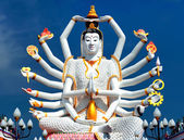 Thailand landmark in koh Samui, Shiva sculpture and Buddhist tam — Foto Stock