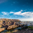 Mehrangarh fort in India, Rajasthan, Jodhpur. Indiarchitectur — Stock Photo #28784215
