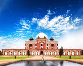 India Delhi Humayun tomb mausoleum. Indian architecture monument — Stock Photo