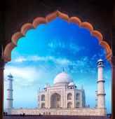 India Taj Mahal palace, Indian Islamic mosque Tajmahal — Stock Photo