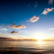 Sunset sea sky summer landscape — Stock Photo