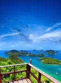 Ko Samui angthong national marine park archipelago in Thailand. — Stock Photo