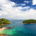 Phuket beach, tropical island and sea view — Stock Photo