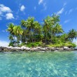 Panoramic image of tropical island — Stock Photo