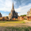 Ancient temple in AyutthayThailand, wat phrsi saphet — Stock Photo #37212665