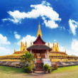 Golden pagoda wat Phra That Luang in Vient — Stock Photo