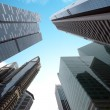 Urban modern business buildings perspective view. Singapore down — Stock Photo