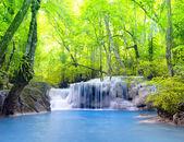 Erawan waterfall in Thailand — Stock Photo