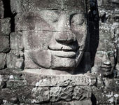Human face and figures in Angkor Wat Cambodia — Stock Photo