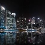 Singapore skyline night panorama. — Stock Photo #48898701
