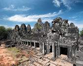 De khmer tempel bayon in angkor wat — Stockfoto