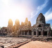 Bayon khmer temple on Angkor Wat — Stock Photo