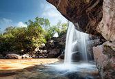 Waterfall landscape panorama. — Stock Photo