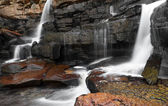Mountain river waterfall — Stock Photo