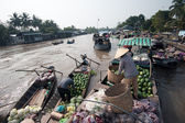 Vietnam, Mekong Delta floating market — Stock Photo