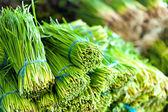 Fundo de comida saudável salada verde. — Fotografia Stock