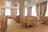 Real interior of restaurant — Stock Photo