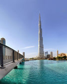 DUBAI, UAE - OCTOBER 23: Burj khalifa, the highest building in t — Stock Photo