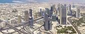 DUBAI, UAE. - OCTOBER 29 : Dubai, the top view on Dubai downtown — Stock Photo