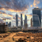 Grandiose construction in Dubai, the United Arab Emirates — Stock Photo #22334641