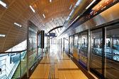DUBAI - OCTOBER 22: Dubai Metro Terminal on October 22, 2012 in — Stock Photo