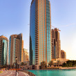 DUBAI, UAE - OCTOBER 23: Modern skyscrapers in Dubai on October — Stock Photo