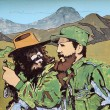 Propaganda poster Fidel Castro and Che Guevara — Stock Photo