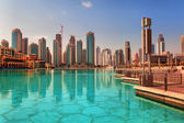 Modern skyscrapers in Dubai on October — Stock Photo