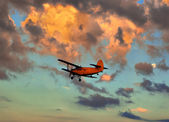 Plane against sky — Stock Photo