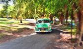Klasik bir amerikan arabası — Stok fotoğraf