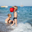 Children on sea beach — Stock Photo #14031904
