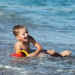 Child boy on sea beach — Stock Photo #14034087