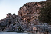 Ancient Myra rock tomb at Turkey Demre — Stock Photo