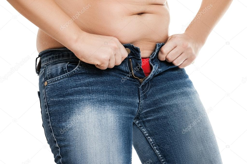 фото живота с приспущенными джинсами