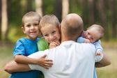 Vader en zonen — Stockfoto