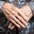 Stock Photo: Very old woman hands