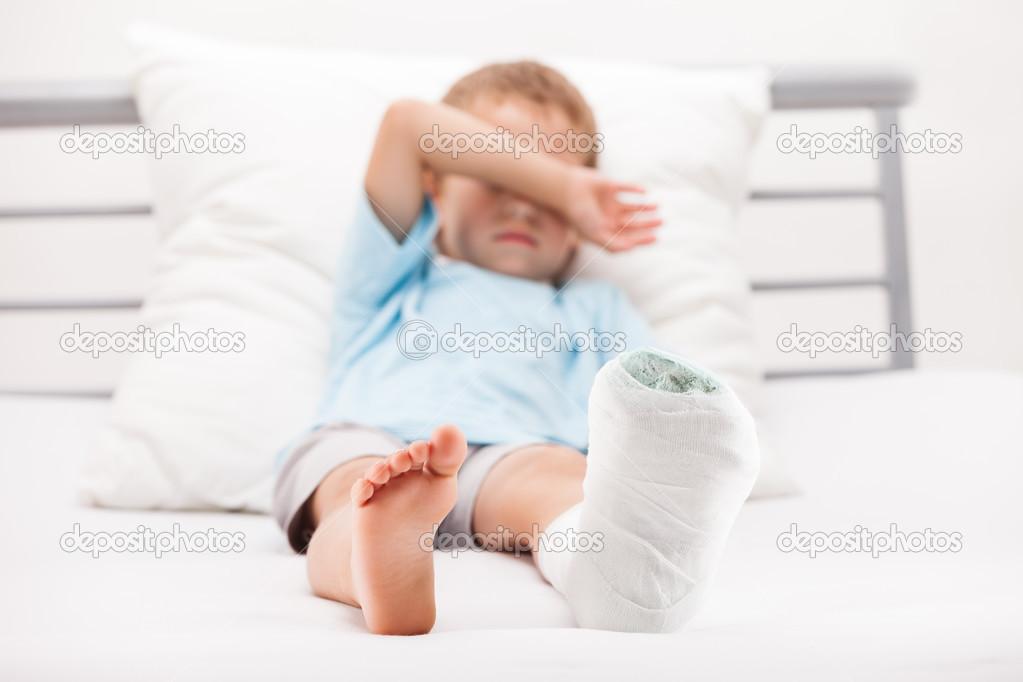 Broken Foot Bandage Fracture or Broken Foot