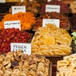 Healthy eating dried fruit snack at food market — Stock Photo