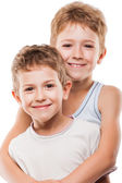 Two brother boys — Stock Photo