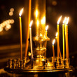 Church candle light — Stock Photo #5470815